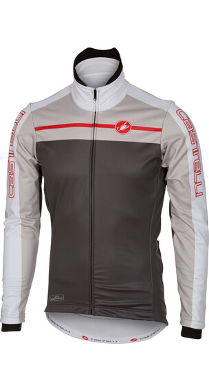 Castelli Velocissimo Jacket Men anthracite/light grey/white